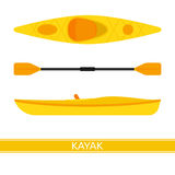 Kayak Vector Icon Stock Images