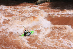 A kayak in Wa River stock images