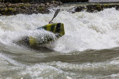 Kayak in whitewater Royalty Free Stock Photo