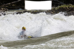 Kayak in whitewater Stock Photos