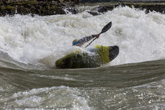 Kayak in whitewater Royalty Free Stock Photography