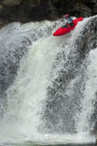 kayaker καταρράκτης στοκ εικόνα