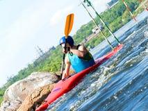 Kayaker Imagem de Stock Royalty Free