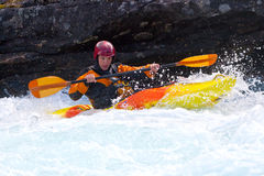 Kayaker Fotografia de Stock Royalty Free