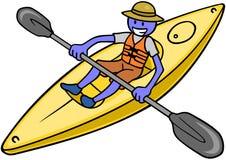 Kayaker Lizenzfreie Stockbilder