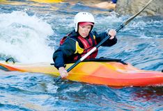 Kayaker Stock Foto