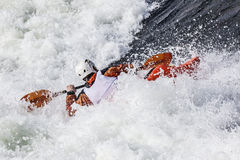 Kayaker Immagine Stock