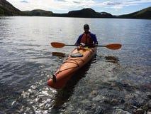 Kayaker Foto de Stock