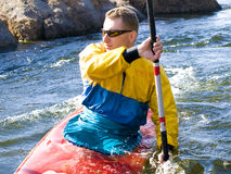 Kayaker Stockfoto
