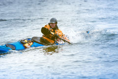 Kayaker in action Stock Images