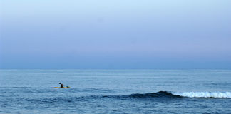Kayaker atlântico imagem de stock