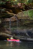 Kayaking on Grayson Lake royalty free stock photography