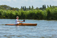 Kayaker on a canal Stock Photo