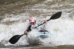 Kayaker competition Stock Images