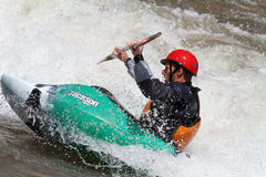 Kayaker Competition Royalty Free Stock Image