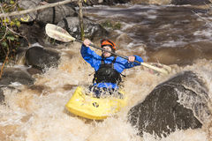 Kayaker d Fotografia Royalty Free