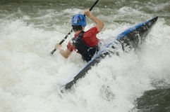 Kayaker de Whitewater Photographie stock libre de droits