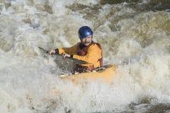 Kayaker del estilo libre Fotografía de archivo libre de regalías