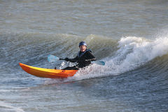Kayaker del mare Immagini Stock