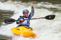 Kayaker di stile libero Immagini Stock Libere da Diritti