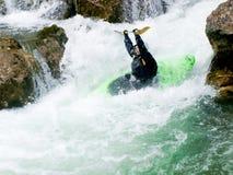 Kayaker féminin Image libre de droits