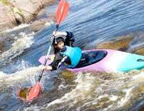 Kayaker femenino Fotos de archivo