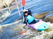 Kayaker femenino Imagen de archivo