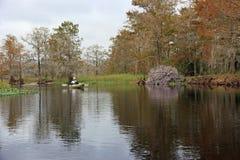 Kayaker on Fisheating Creek, Florida.