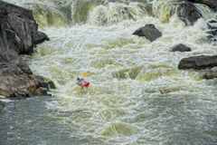 kayaker gnania woda Obraz Stock