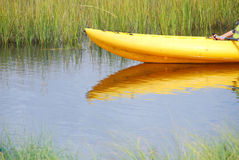 Kayaker in the marsh Royalty Free Stock Image