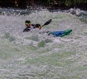 Kayaker na água áspera #5 Imagem de Stock Royalty Free