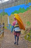 Kayaker na ścieżce przy Tallulah spadkami Obraz Royalty Free