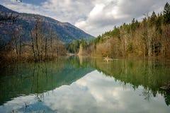 Kayaker na rzece Obrazy Royalty Free