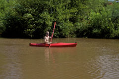 Kayaker on Oak Creek Stock Photos