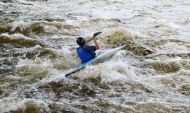 Kayaker op rivier Vuoksi Stock Fotografie