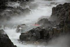 Kayaking on Potomac River  stock photography