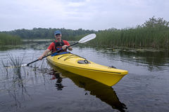 Kayaker in Presqu'ile Provincial Park, Ontario Stock Photo