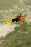 Kayaker on the river. Berchtesgaden. Germany Royalty Free Stock Photo