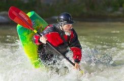 Kayaker in River Stock Photo