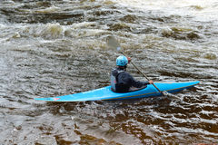 Kayaker on river Vuoksi Stock Photo