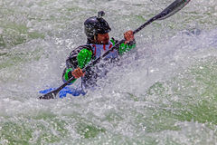 Kayaker In Rough Water #2 Royalty Free Stock Photo