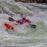 Kayaker in Ruw Water #6 Royalty-vrije Stock Afbeeldingen