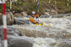Kayaker's competition Stock Photography