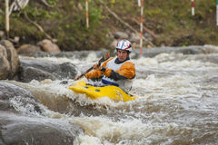 Kayaker's competition Royalty Free Stock Photos