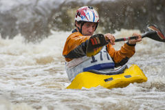 Kayaker's competition Stock Image