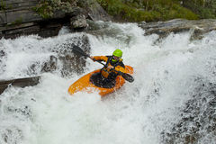 kayaker siklawa Zdjęcie Stock