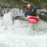 kayaker siklawa Zdjęcia Stock