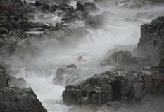 Kayaker sul fiume Potomac fotografie stock