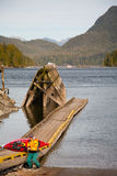 Kayaker at Tofino, BC Stock Photography
