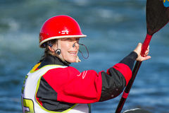 Kayaker waiting for her turn Royalty Free Stock Photo